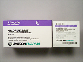 Watson Pharmaceutical's (formerly Actavis) Androderm testosterone transdermal system testosterone patch