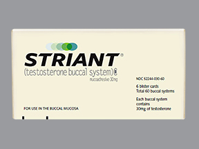 Mipharm S.p.A. and Columbia Laboratories' Striant testosterone product adheres to the gum or inner cheek and provides a controlled and sustained release of testosterone.