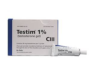 Auxilium Pharmaceuticals and Glaxo Smith Kline's Testrim testosterone gel